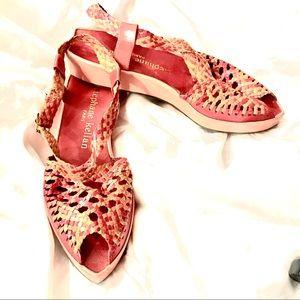 Stephane Kelian Paris Woven Platform Sandals 7